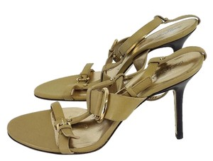 Dolce&Gabbana Tan Leather Strappy Heels Sandals