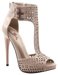 Luichiny Heels Natural Nude Pumps