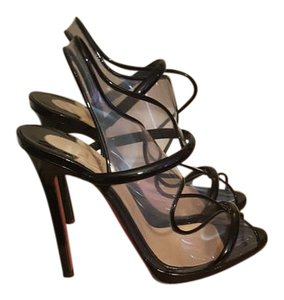 Christian Louboutin Black PVC Sandals