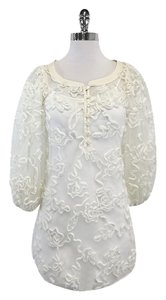 Anne Fontaine White 3-d Swirl Print Tunic