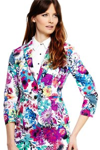 Cotton Floral Printed Blazer