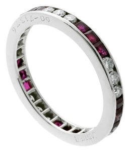 Cartier Cartier Diamond, Ruby Eternity Platinum Ring