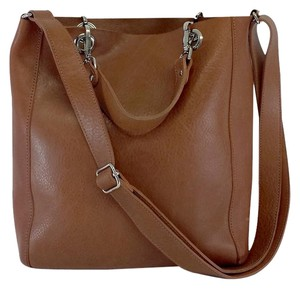 m0851 Brown Leather Tote