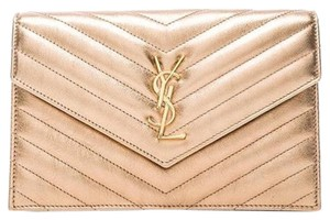 Saint Laurent Chain Quilted Monogram Cross Body Bag