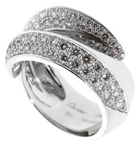 Cartier Cartier Bypass Panthere Diamond White Gold Ring