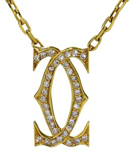 Cartier Cartier Double C Diamond Gold Necklace