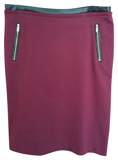 Item - Maroon Leather Accent Skirt Size 10 (M, 31)