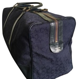 Céline Navy Blue & Gold Travel Bag
