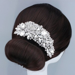 9.2.5 Hair Comb Bridal Wedding Prom Pageant Leaf Vine Flower Floral Rhinestone