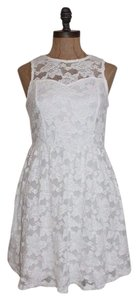 Monteau Los Angeles short dress white Lace Daytime Lace on Tradesy