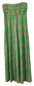 green Maxi Dress by Lilly Pulitzer Maxi Coral Me Crazy