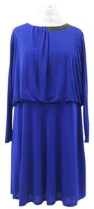 DKNY short dress Blue Style # C337457db Blouson Flared Longsleeve on Tradesy