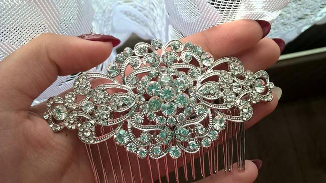 9.2.5 Crystal Hair Comb Clip Rhinesting Diamond Cz Pageant 9.2.5 Crystal Hair Comb Clip Rhinesting Diamond Cz Pageant Image 1