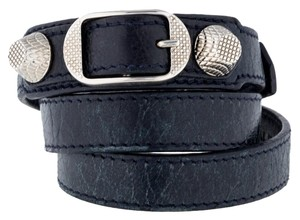 Balenciaga Navy blue leather Balenciaga Arena Giant wrap bracelet