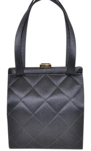 Chanel Silk Evening Tote in Black