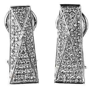 Versace Versace Pave Diamond White Gold Earrings