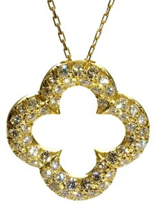 Van Cleef & Arpels Van Cleef and Arpels Alhambra Diamond Gold Necklace