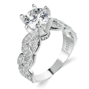 9.2.5 5 6 7 8 9 Diamond Engagement Ring Single Solitaire 2ct Silver 925