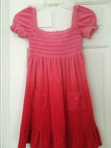 Juicy Couture Ombre Smocked Terry Dress/Coverup