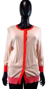 Ann Taylor LOFT Button Down Embroidered Cardigan
