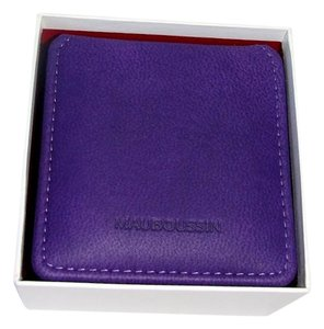 Mauboussin Mauboussin Purple Leather Jewelry Box with White Outside Box