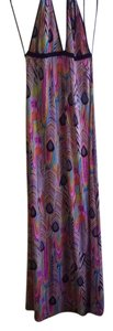 colorful feathers Maxi Dress by Johnny Martin