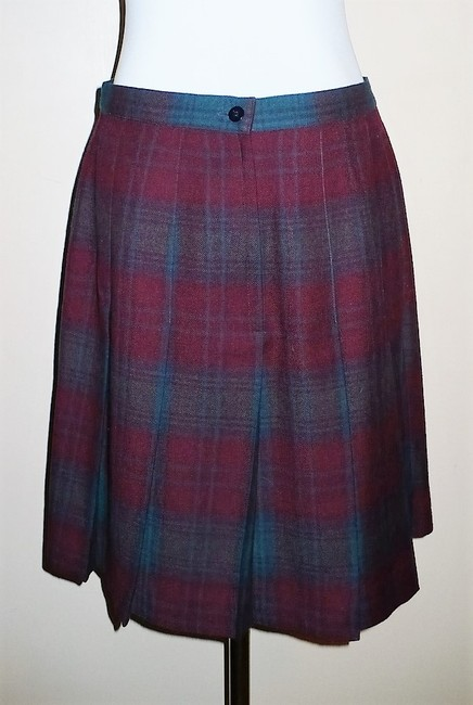 Giorgio Sant'Angelo Vintage Pleated Skirt Red Plaid