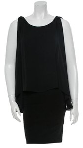 Alice + Olivia Sheer Date Night Party Sleeveless Sleek Dress