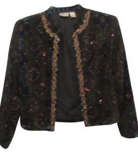 Chico's black with multi print Jacket
