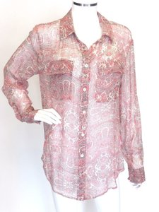 Equipment Sheer Paisley Med Nwt Top Multi-Color