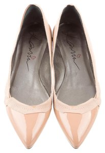 Lanvin Frech Designer Casual Patent Leather Nude Flats