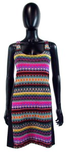 Buffalo David Bitton Bodycon Sleeveless Tribal Knee Length Dress