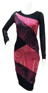 Jean-Paul Gaultier Style#e24461 Bodycon Stretchy Longsleeve Color Dress