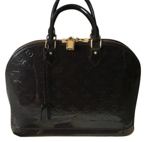 Louis Vuitton Vernis Alma Brown Limited Edition Satchel in Sparkly Brown