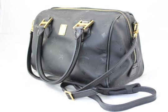 MCM Speedy Hand Strap Cross Body Shoulder Penny Lane Satchel in Black