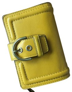 Coach Coach Yellow Bi Fold Wallet