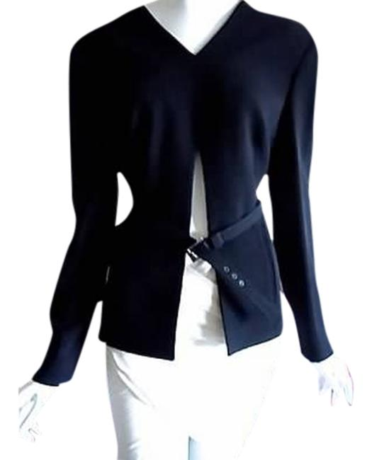 Preload https://img-static.tradesy.com/item/1790864/versace-black-luxurious-wool-front-slit-jacket-blazer-i44-10-blouse-size-8-m-0-0-650-650.jpg