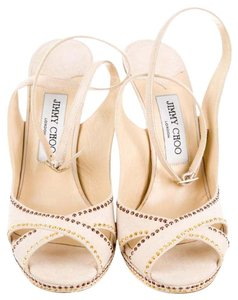Jimmy Choo Suede Leather Pump Nude-Beige Sandals