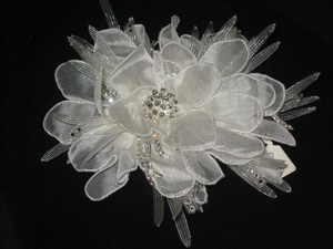 Flower And Crystal Hair Clip