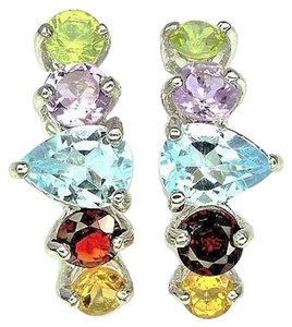 Other Stunning Amethyst, Garnet, Peridot,Citrineand Blue Topaz Post Earrings