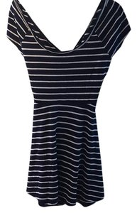 Wet Seal short dress Navy and white on Tradesy