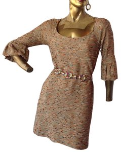 Diane von Furstenberg short dress Oatmeal, Gold Metallic, Cornflower Blue, Tangerine, Ivory Dvf Knit Sweater on Tradesy