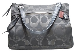 Coach Travel Big Weekender Tote in Silver/Taupe