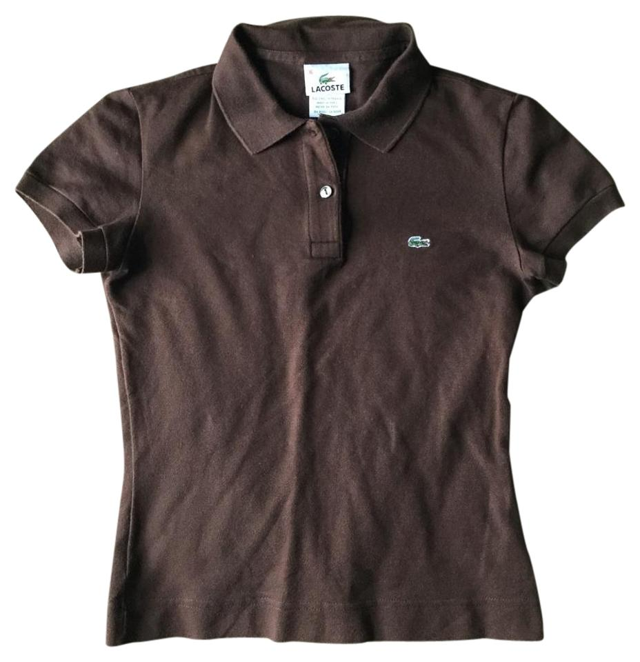Lacoste Brown Button Down Shirtpolo Tee Shirt Size 6 S Tradesy