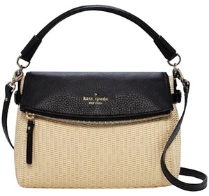 Kate Spade Wicker Straw Leather Minka Cross Body Bag
