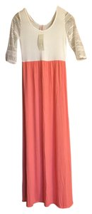 Coral & Pink Maxi Dress by