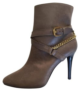Ralph Lauren Grey Leather Ankle Boots