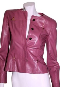 Chanel Leather pink Leather Jacket