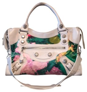Balenciaga Satchel in White Multi