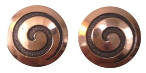 Other Midcentury Copper Swirl Earrings